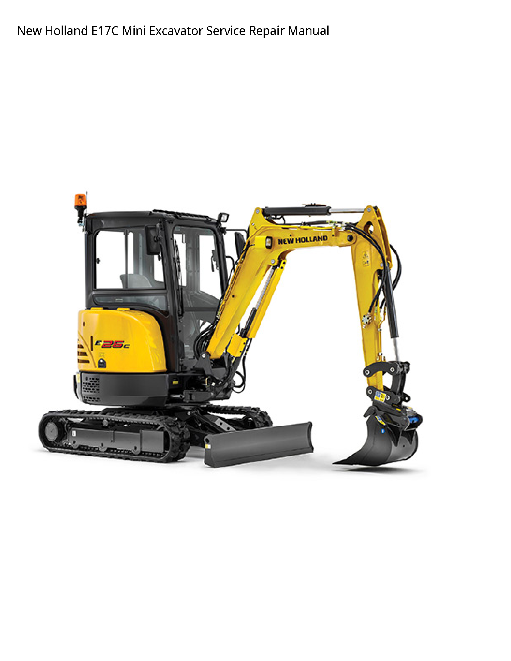 New Holland E17C Mini Excavator manual