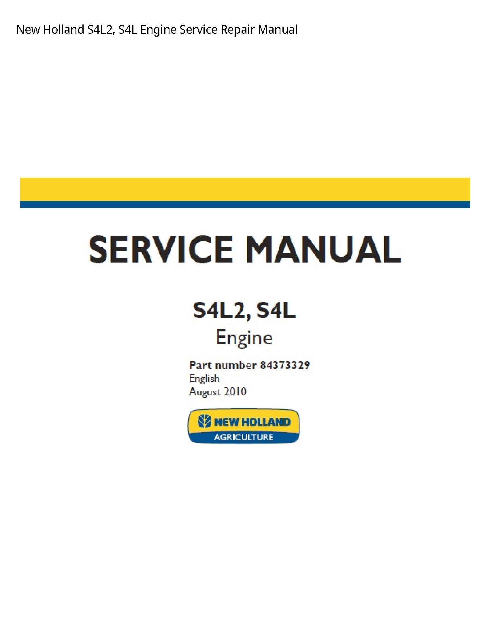 New Holland S4L2 Engine manual