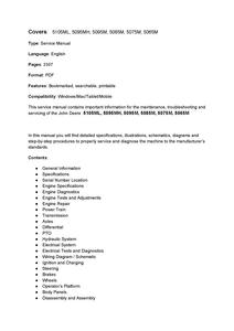 John Deere 5105ML manual