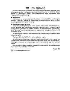 Kubota V2203-B service manual