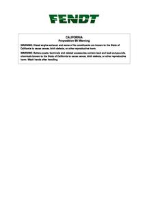 Fendt 9325 Draper Header DynaFlex) manual