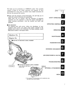 Kobelco SK120LC Hydraulic Excavator Operator's manual