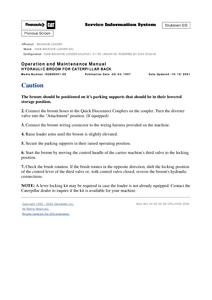 Caterpillar 426B manual