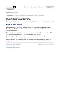 Caterpillar 426B service manual
