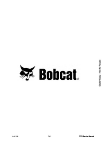 Bobcat T770 Compact Track Loader service manual