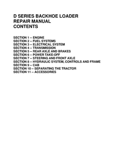 New Holland Ford 455D Tractors manual