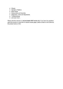 John Deere 2025R service manual