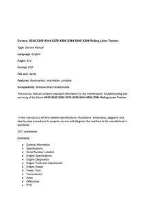 John Deere X330 manual