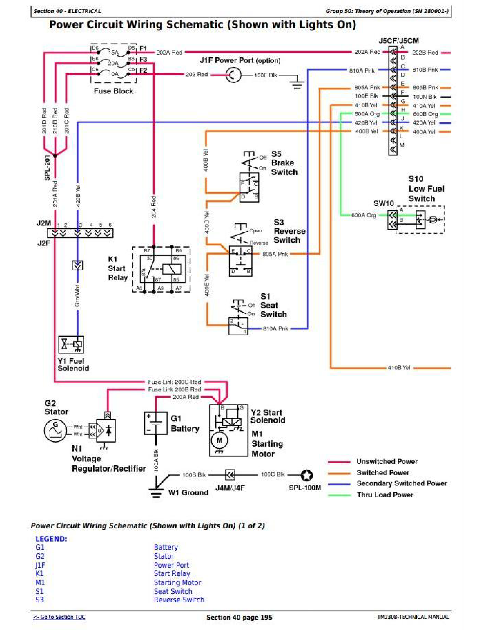 John Deere X340 manual