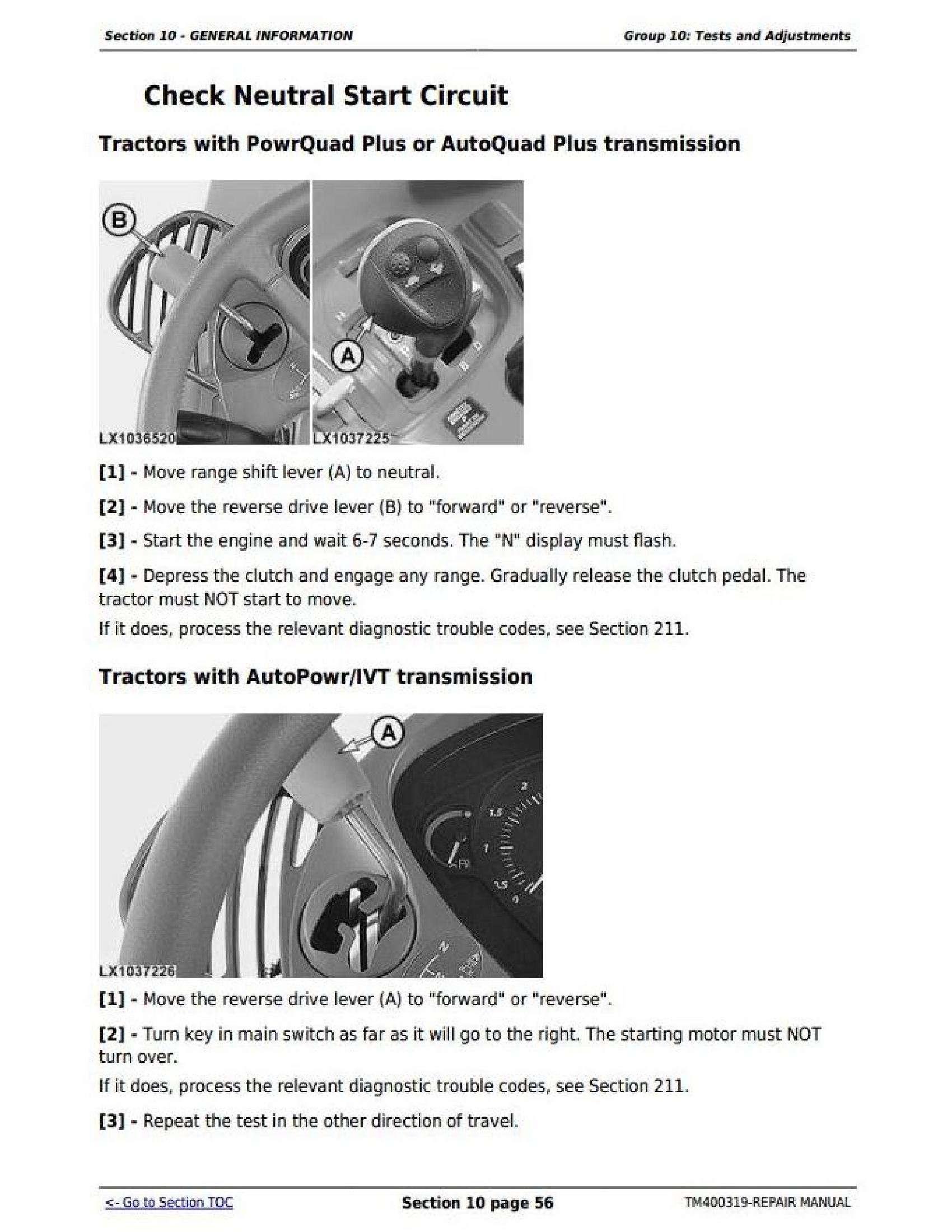 John Deere 7530 manual pdf