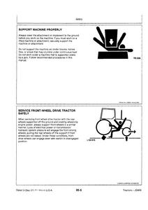John Deere 3255 Tractors Technical manual