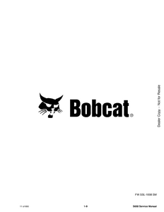 Bobcat S630 Skid Steer Loader manual
