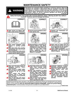 Bobcat S630 Skid Steer Loader service manual