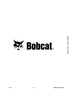 Bobcat S630 Skid Steer Loader manual pdf