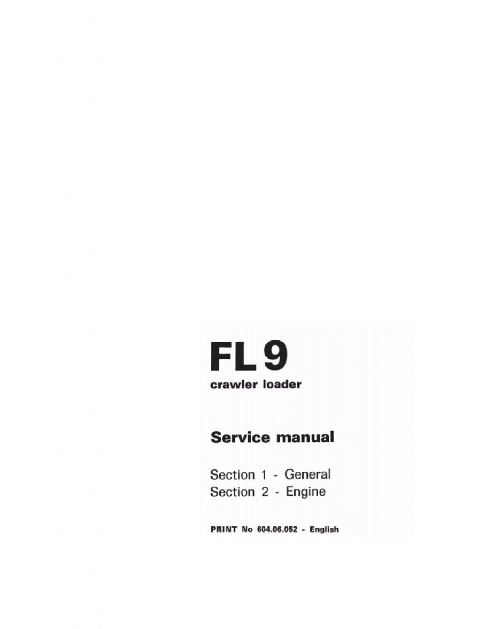 Fiat-Allis 9 FL Crawler Loader manual