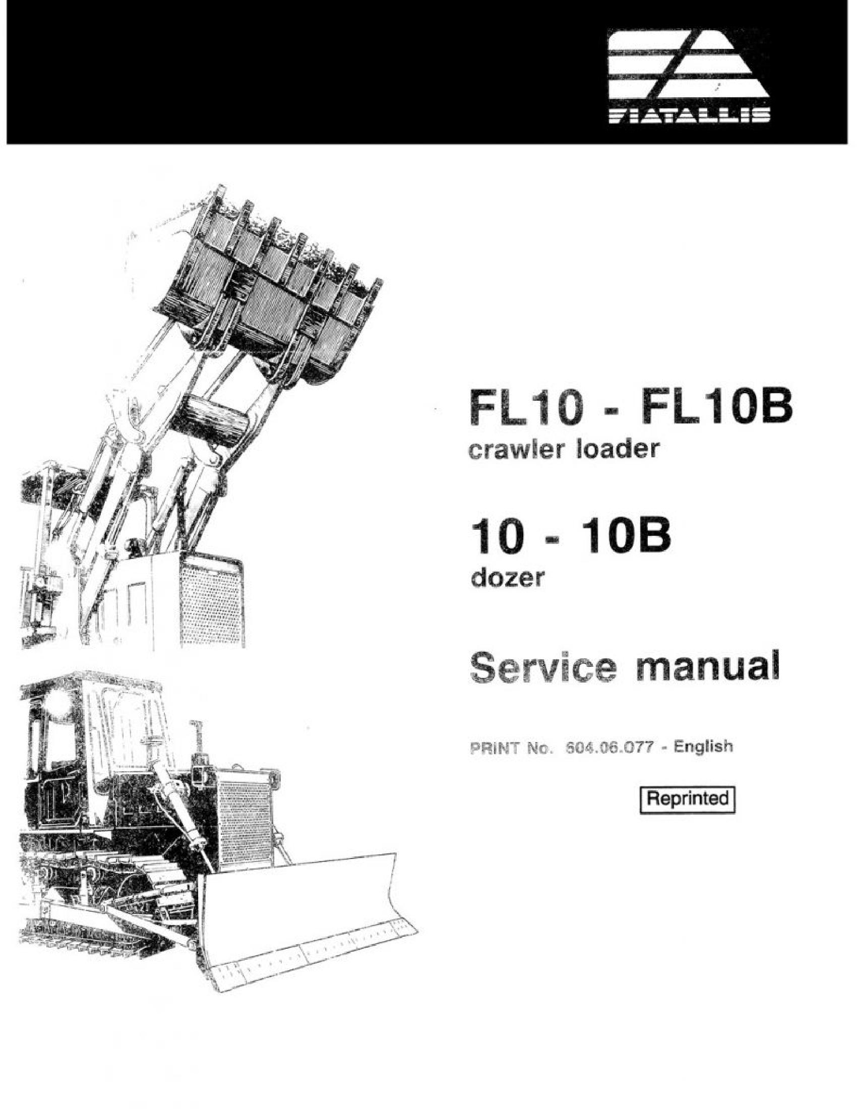 Fiat-Allis FL10 Crawler Dozer manual