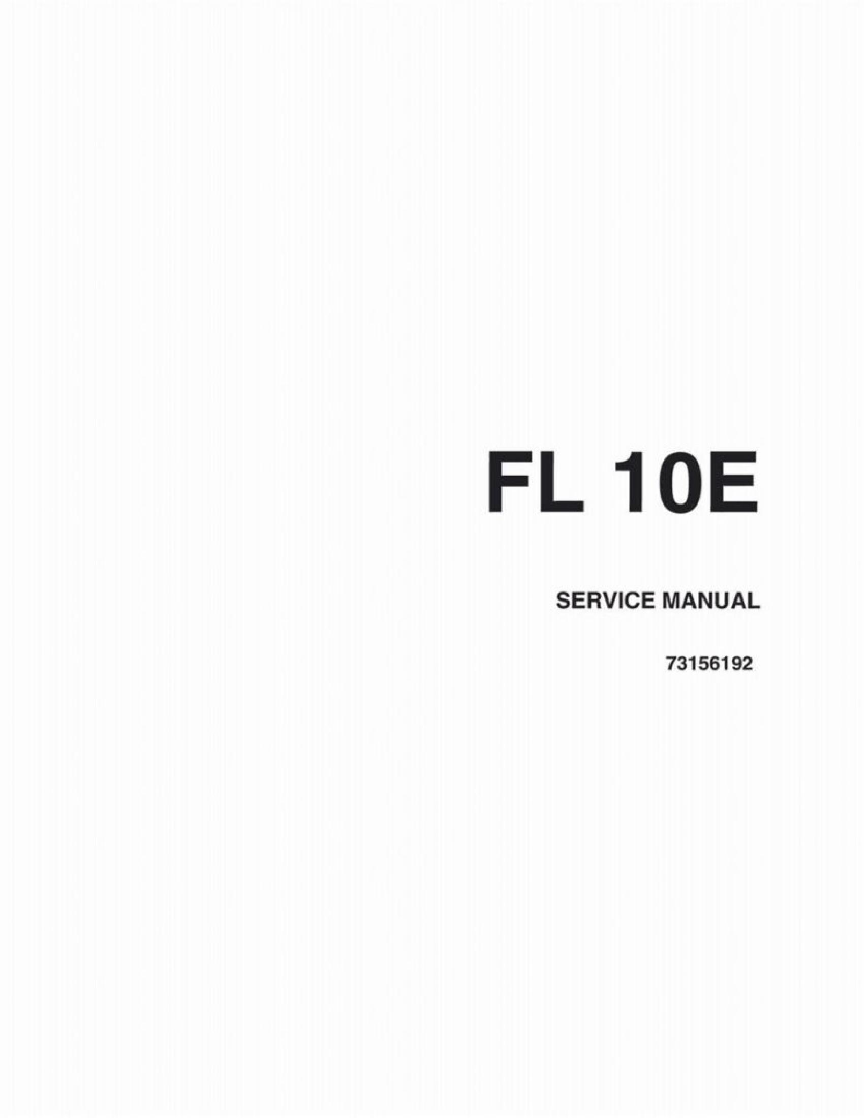 Fiat-Allis 10E FL Crawler Loader manual