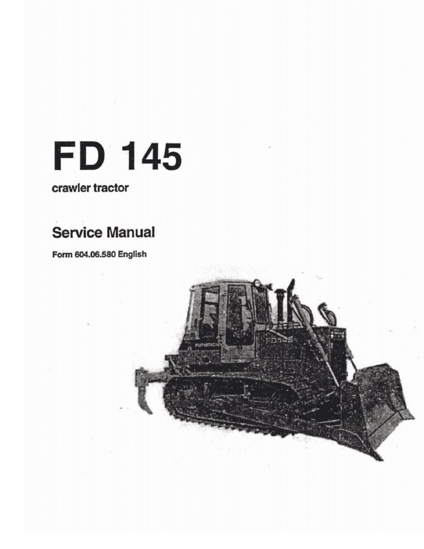 Fiat-Allis 145 FD Crawler Tractor manual
