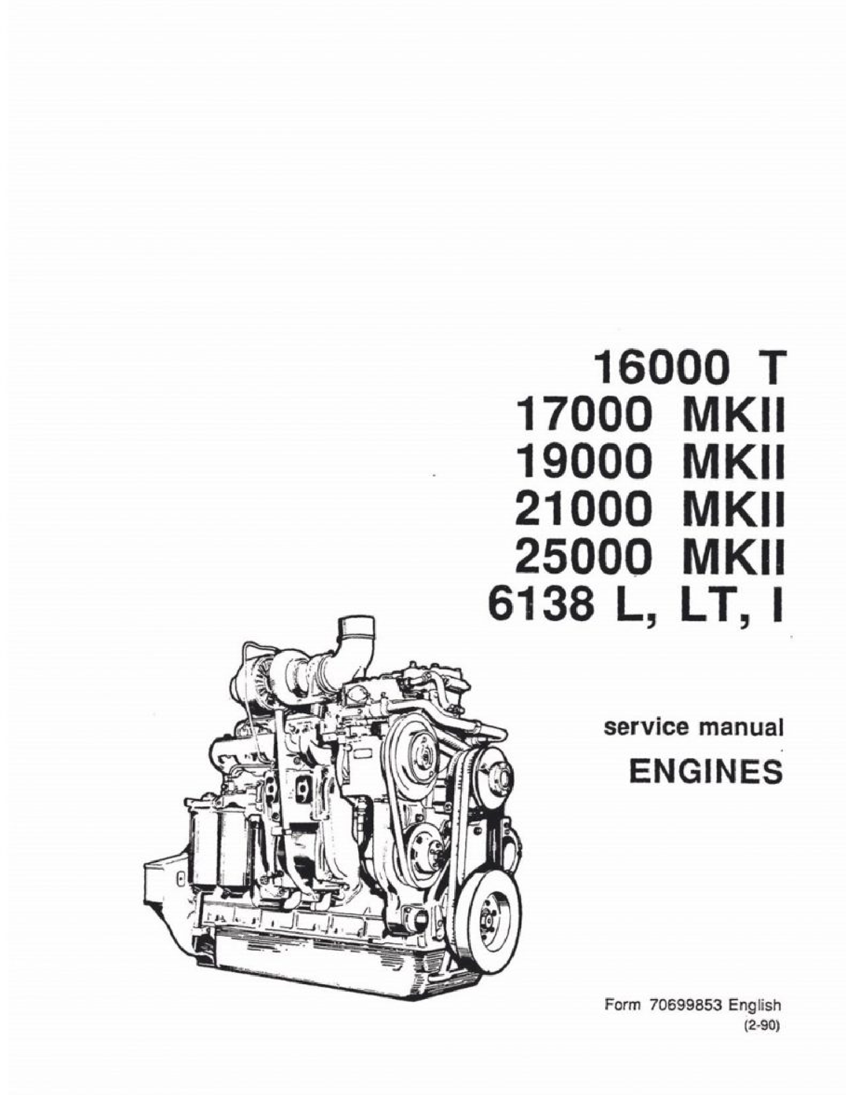 Fiat-Allis 16000 Engine manual