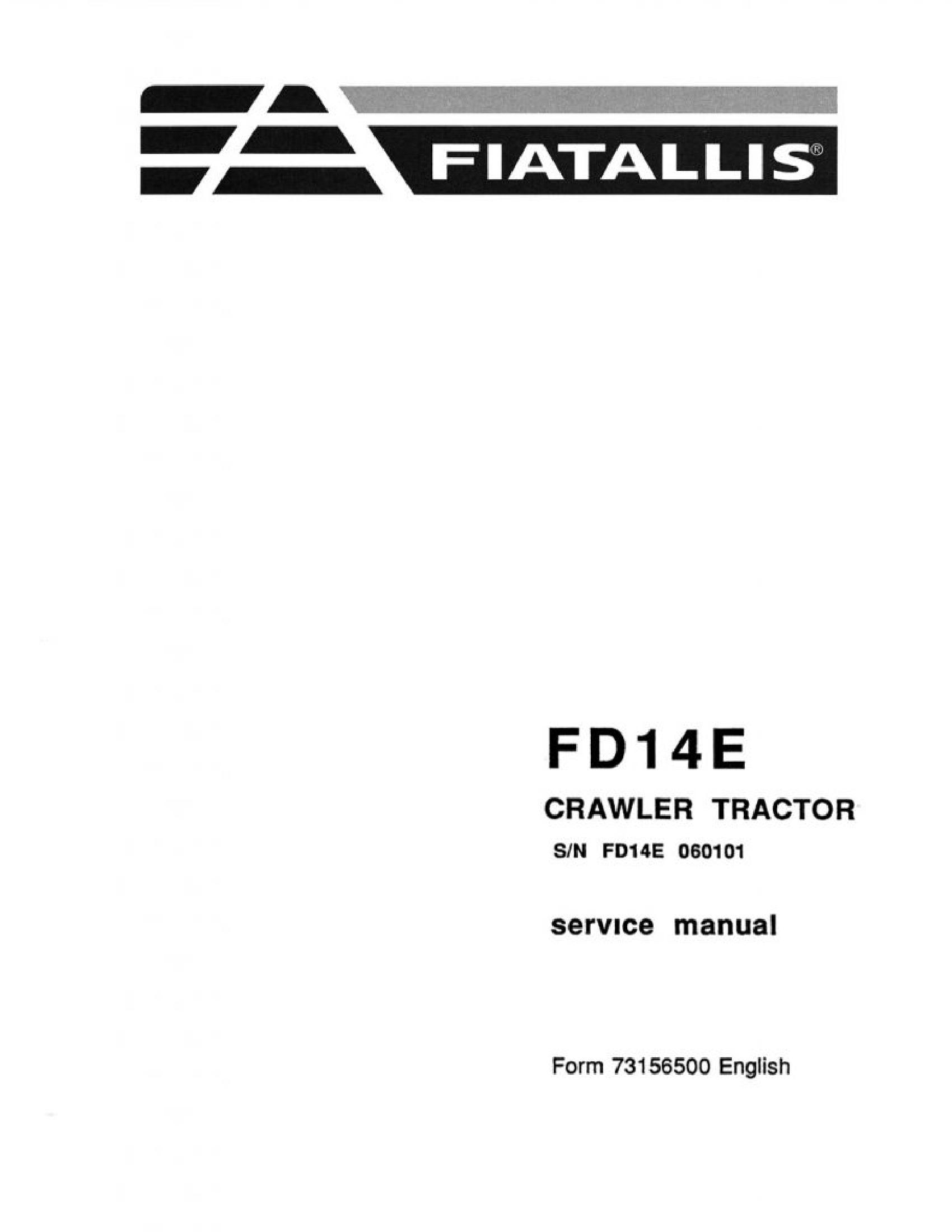 Fiat-Allis 14E FD Crawler Tractor manual
