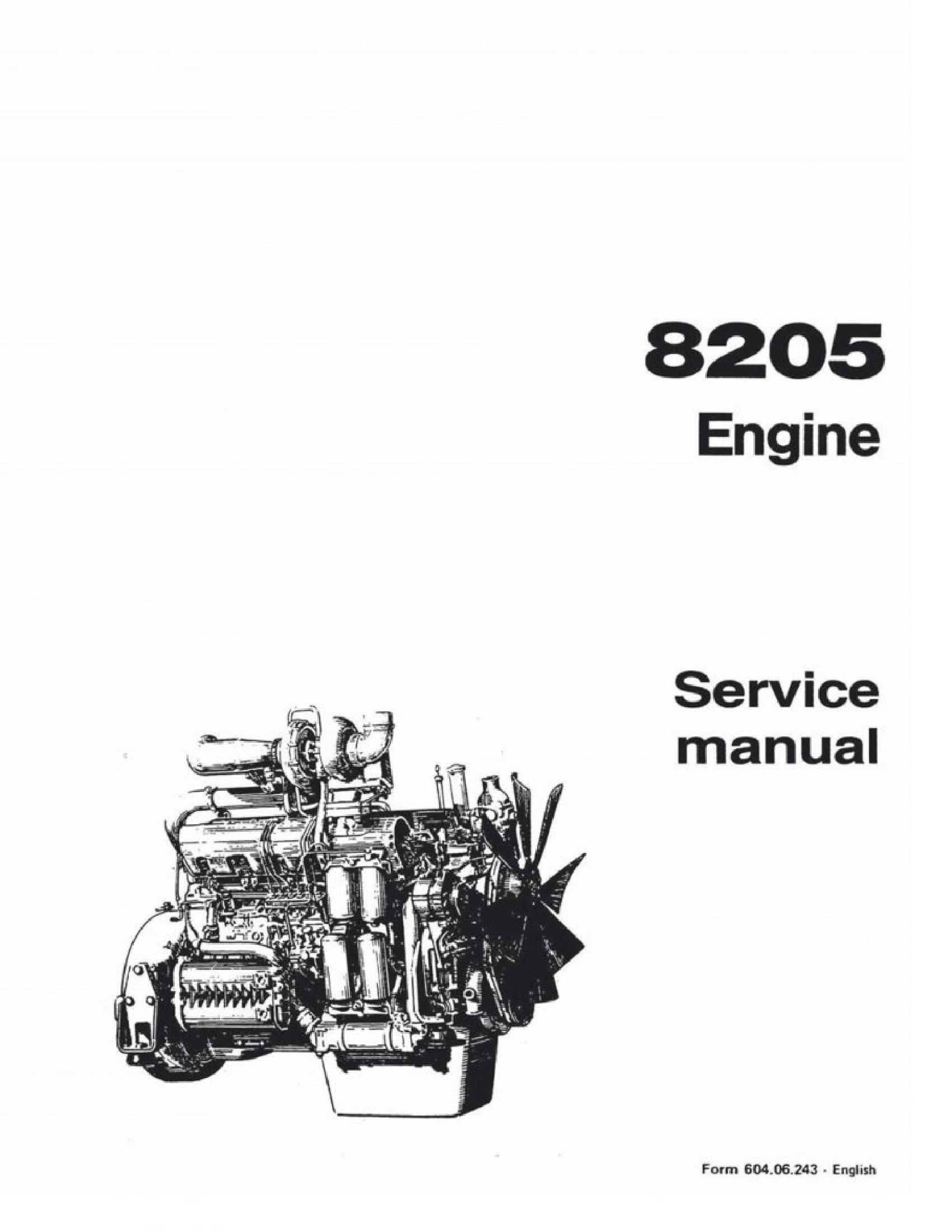 Fiat-Allis 8205 Engine manual