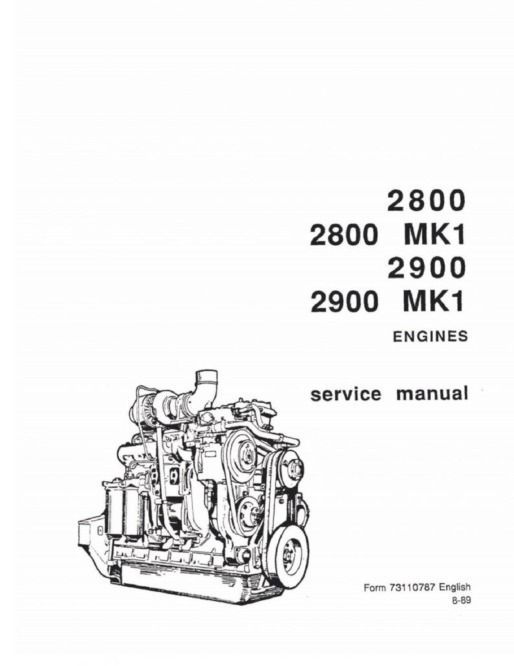 Fiat-Allis 2800 Engines manual
