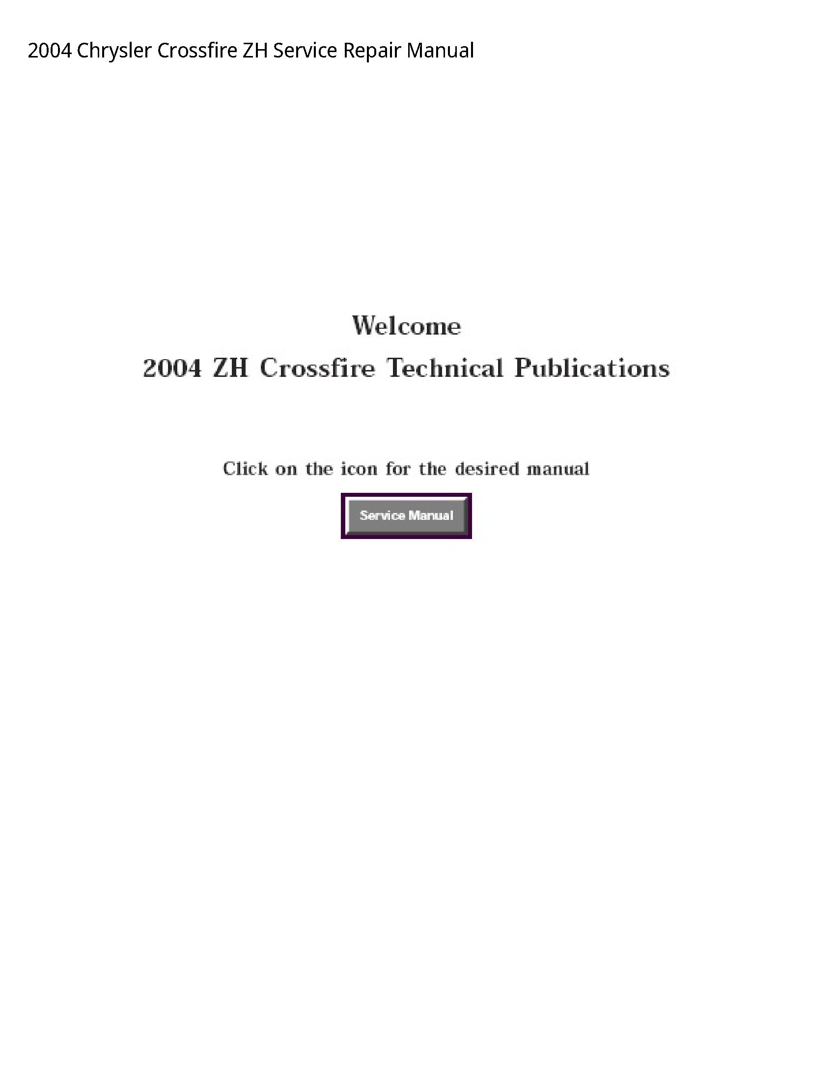 Chrysler Crossfire ZH manual