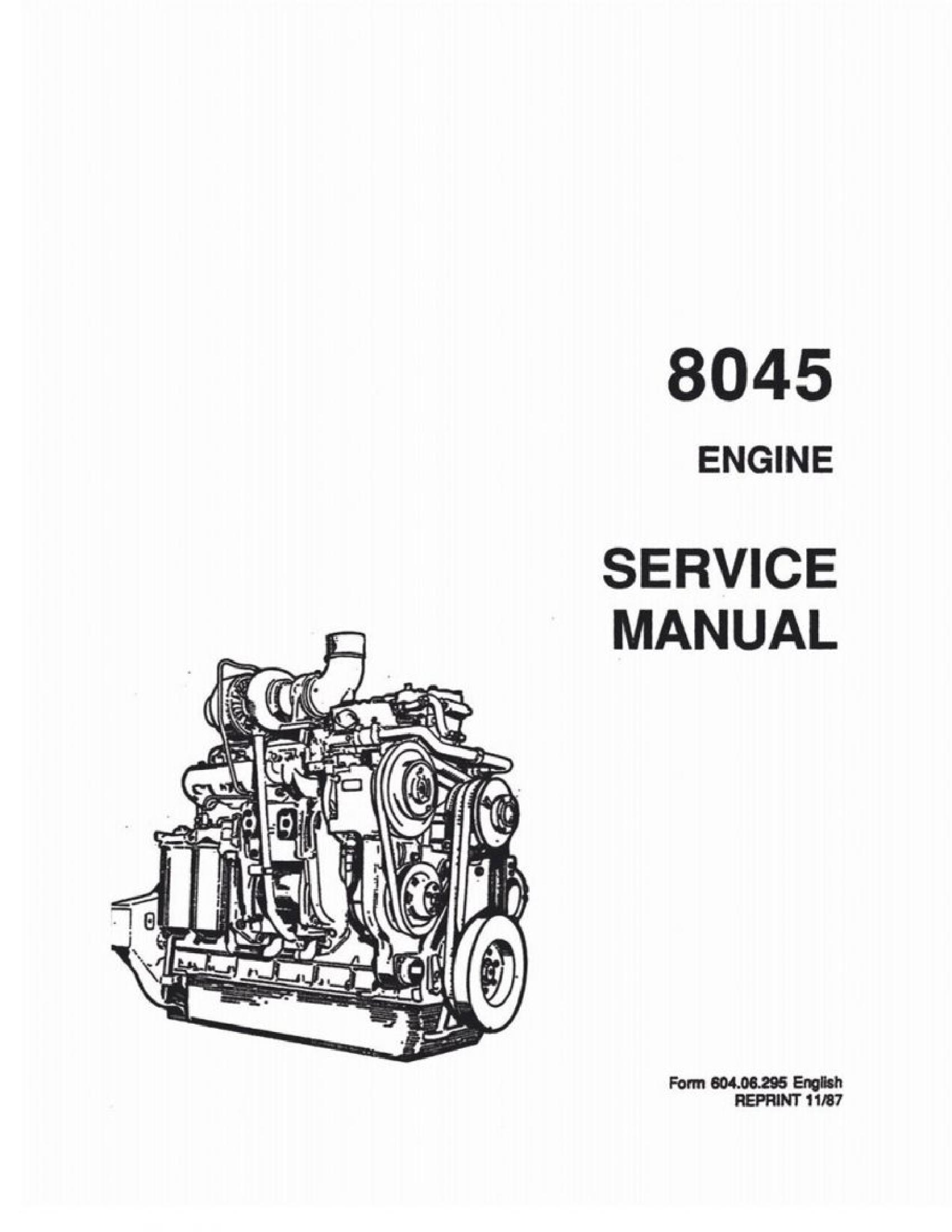 Fiat-Allis 8045 Engine manual