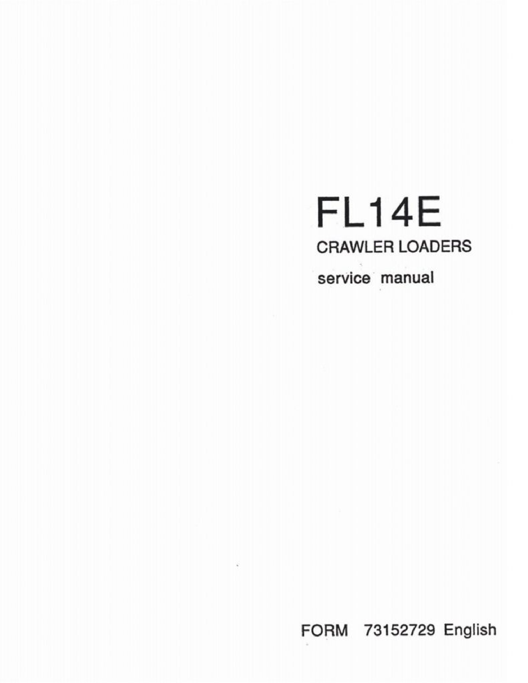 Fiat-Allis FL14E Crawler Loader manual