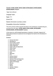 John Deere 9370R manual