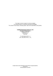 Crown PTH50 manual