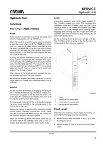 Crown PTH50 service manual