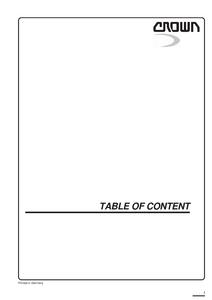 Crown ST3000 manual