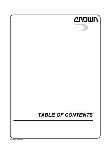 Crown SP3400 service manual
