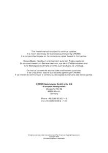 Crown WE2300 manual