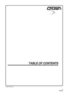 Crown WF3000 manual