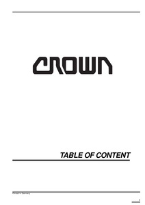 Crown LP3020 manual