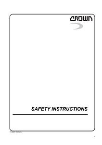 Crown WAVE50 service manual