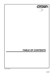 Crown ESR4500 service manual