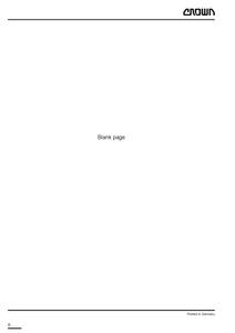 Crown ESR4500 manual pdf