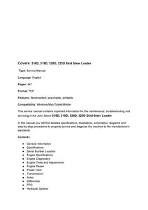 John Deere 318D manual
