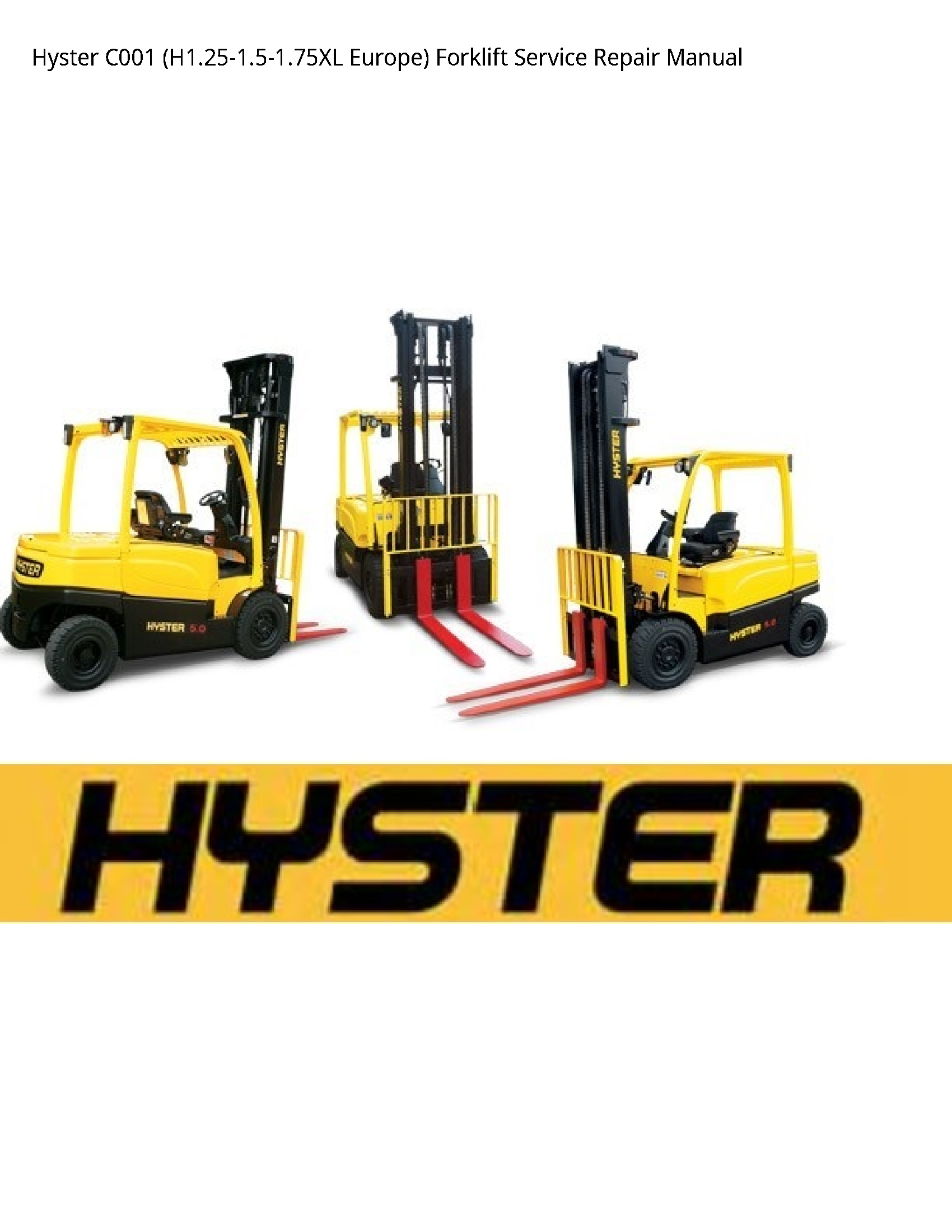Hyster C001 Europe) Forklift manual
