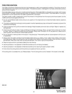 Bobcat 773 Skid Steer Loader manual