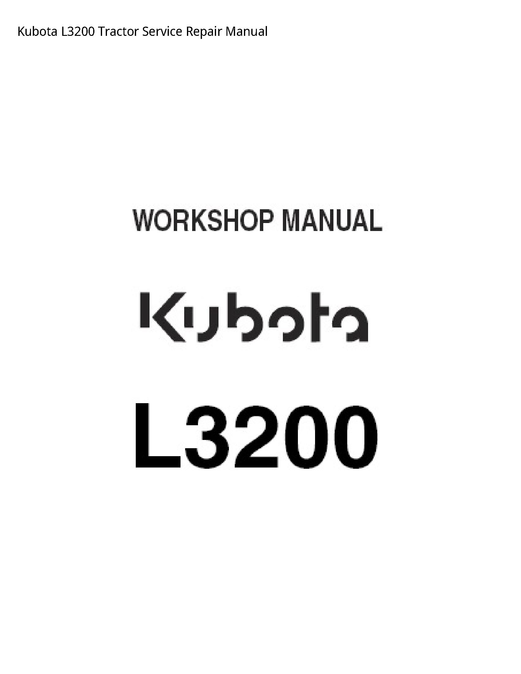 Kubota L3200 Tractor manual