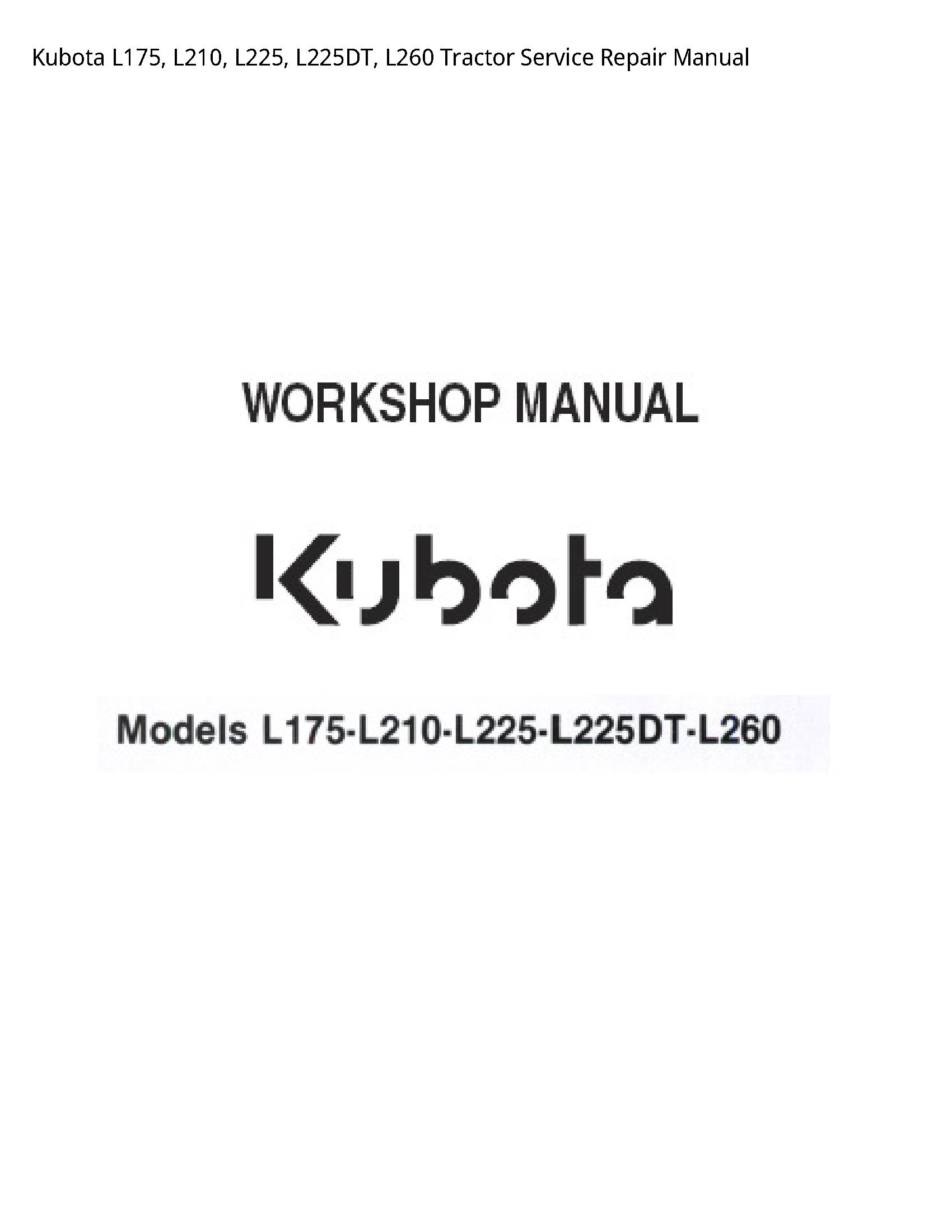 Kubota L175 Tractor manual