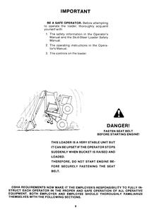 New Holland L-779 Skid-Steer Loader service manual