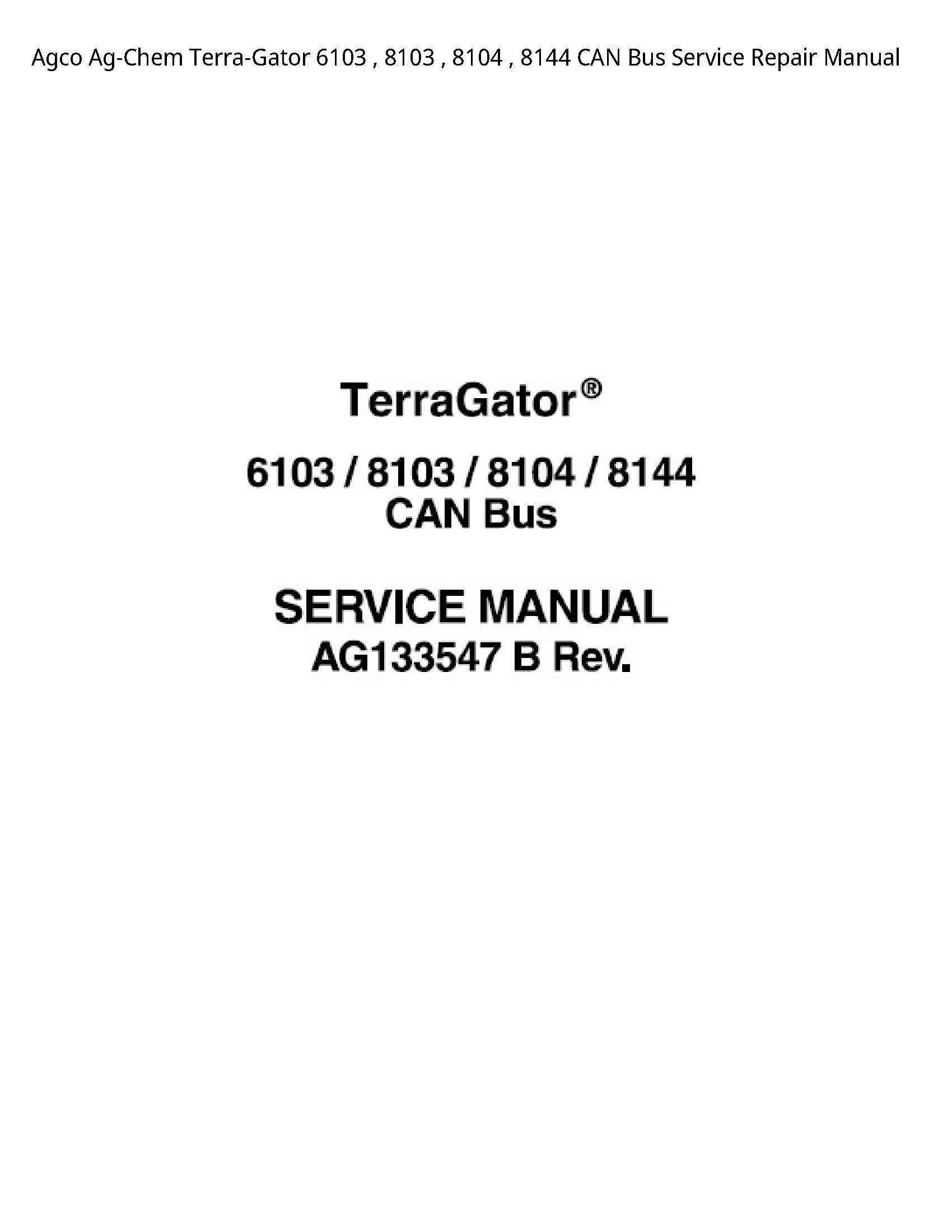 AGCO 6103 Ag-Chem Terra-Gator CAN Bus manual