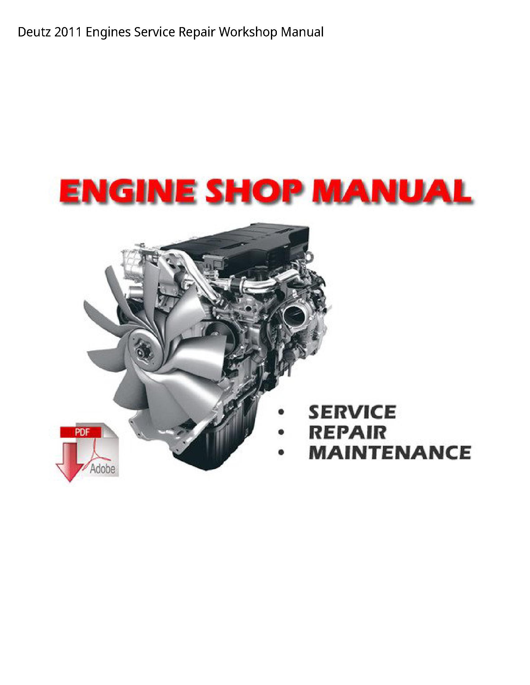 Deutz 2011 Engines manual
