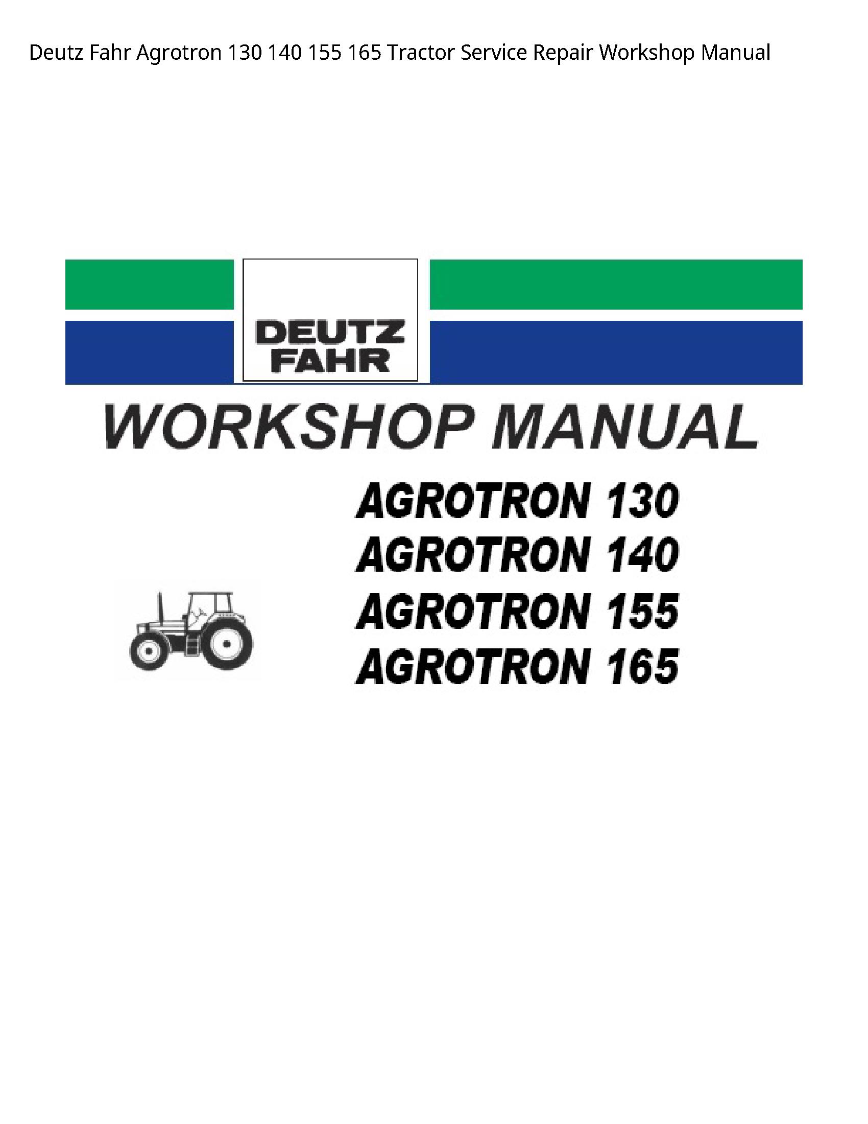 Deutz 130 Fahr Agrotron Tractor manual