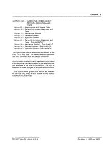 John Deere 4420 Combines Technical manual